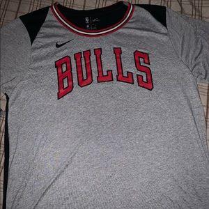 Nike Chicago Bulls Gray Red And Black ShirtsSizeXL